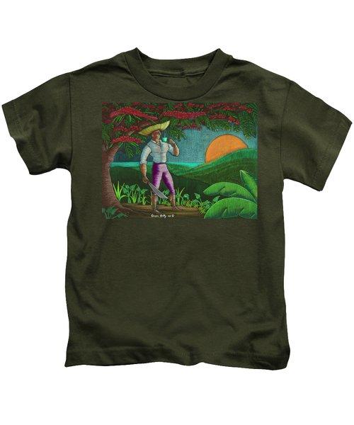 Amanecer En Borinquen Kids T-Shirt