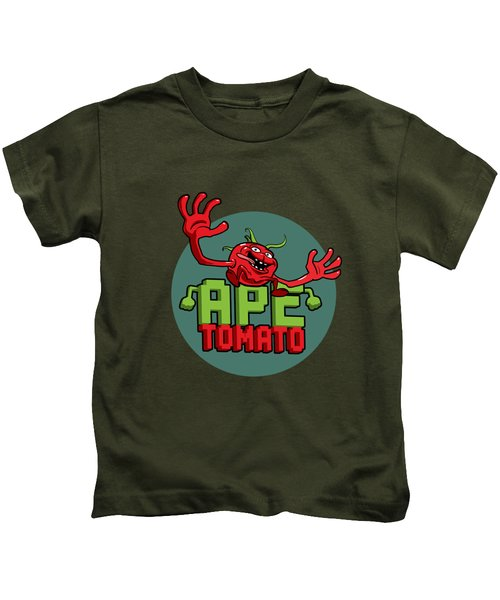Ape Tomato Grey Green Kids T-Shirt by Nicolas Palmer