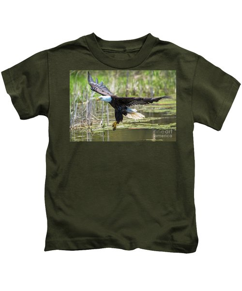 Bald Eagle-3175 Kids T-Shirt