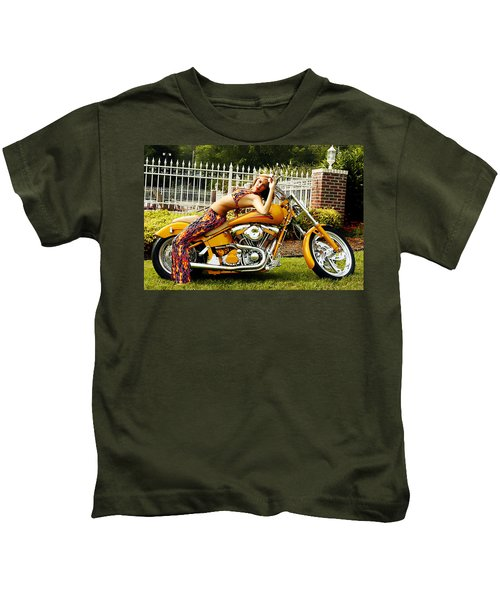 Bikes And Babes Kids T-Shirt