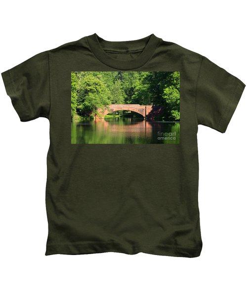 Bridge Reflection In The Spring Kids T-Shirt