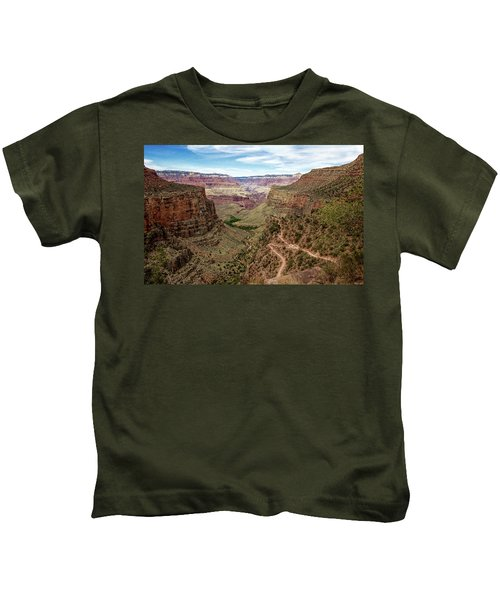 Bright Angel Trail From The South Rim, Grand  Canyon Kids T-Shirt