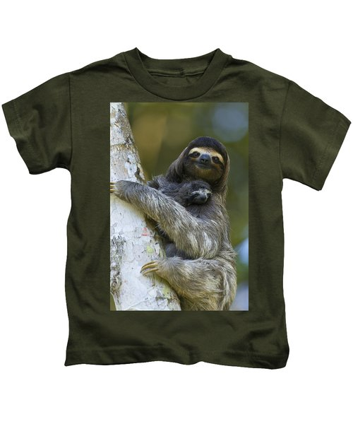 Brown-throated Three-toed Sloth Kids T-Shirt