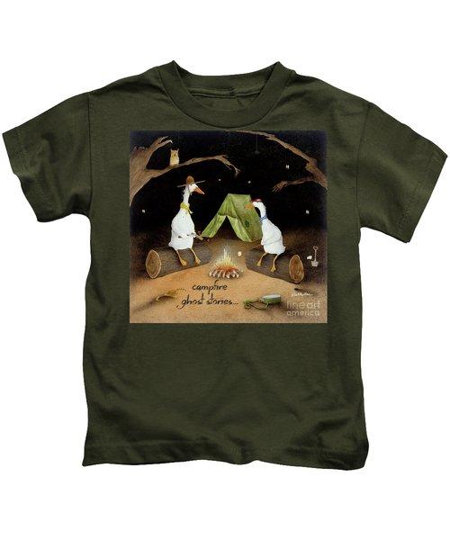 Campfire Ghost Stories Kids T-Shirt