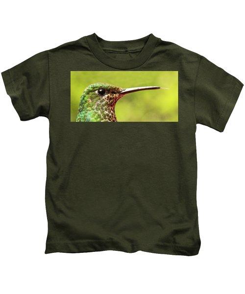 Close-up Of A Rufous-tailed Hummingbird Kids T-Shirt