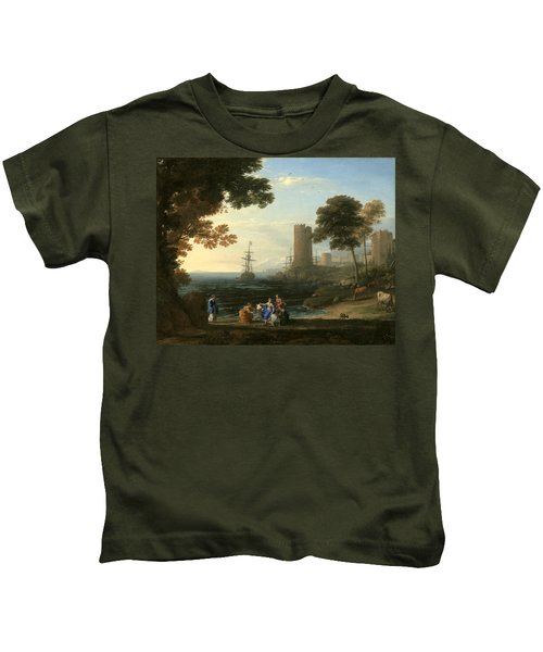 Coast View With The Abduction Of Europa Kids T-Shirt