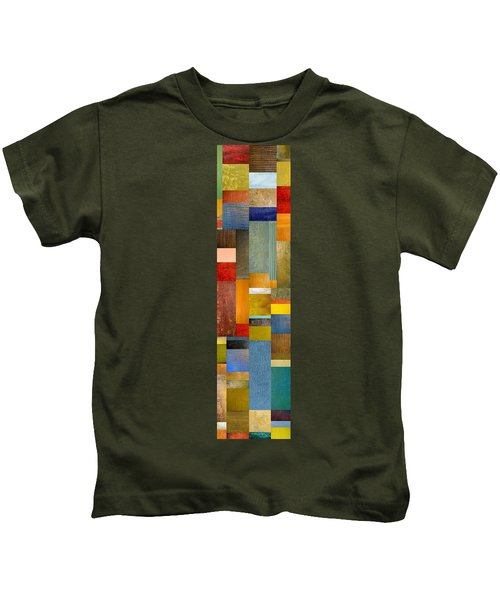 Color Panels With Blue Sky Kids T-Shirt