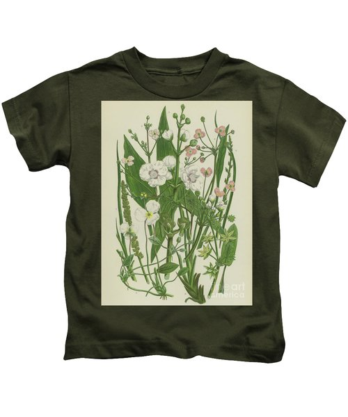 Common Star Fruit, Greater Water Plantain And Other Plants Kids T-Shirt