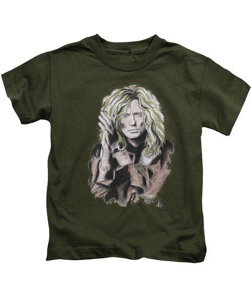 David Coverdale Kids T-Shirt by Melanie D