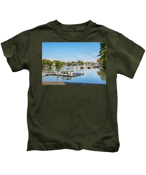 Early Fall Day On Spa Creek Kids T-Shirt
