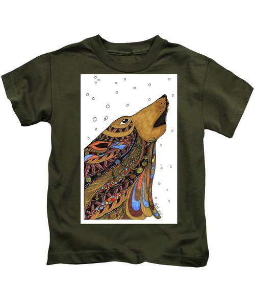 Eli Wolf Kids T-Shirt