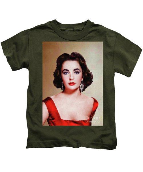 Elizabeth Taylor Hollywood Actress Kids T-Shirt