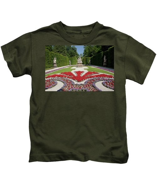 Flowerbeds And Sculptures In Eastern Parterre Kids T-Shirt