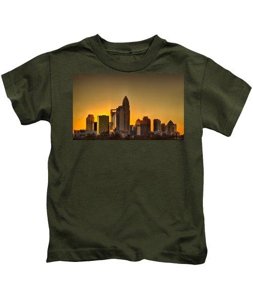 Golden Charlotte Skyline Kids T-Shirt