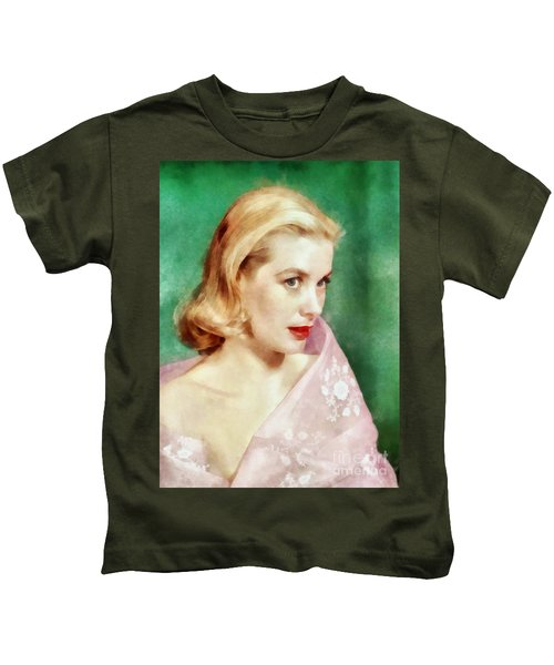 Grace Kelly By John Springfield Kids T-Shirt