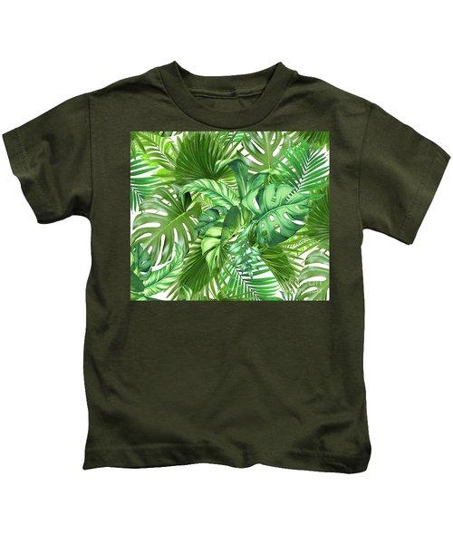 Green Tropic  Kids T-Shirt