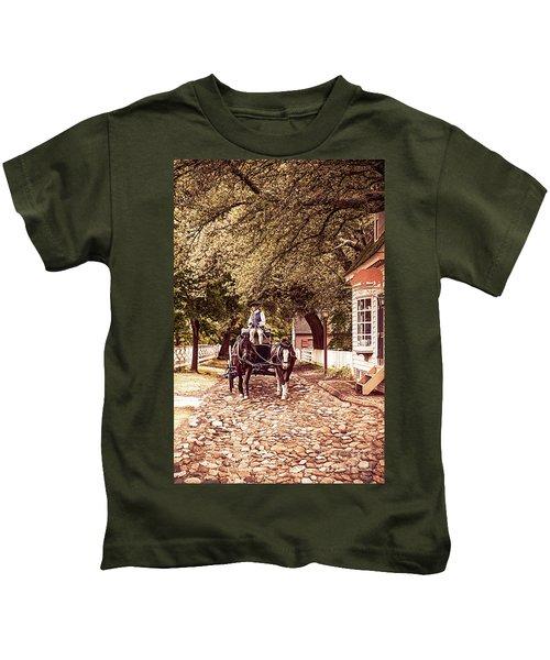Horse Drawn Wagon Kids T-Shirt