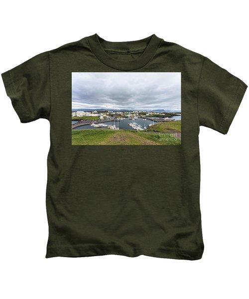 Iceland Fisherman Harbor Kids T-Shirt
