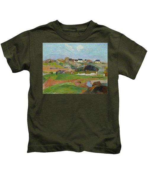 Landscape At Le Pouldu Kids T-Shirt