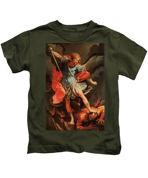 Michael Defeats Satan Kids T-Shirt