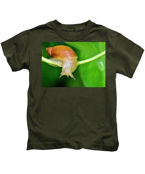 Morning Snail Kids T-Shirt