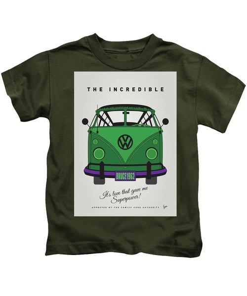 My Superhero-vw-t1-hulk Kids T-Shirt