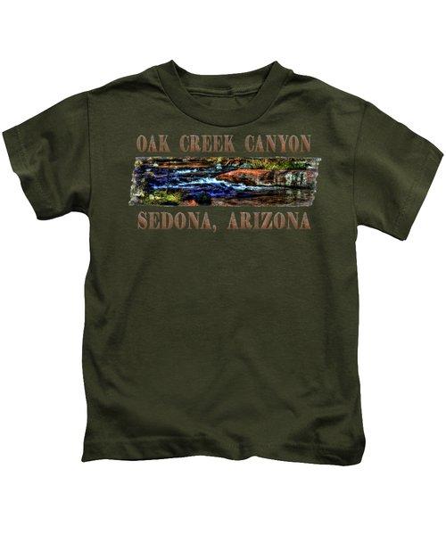 Oak Creek Canyon Cascade Kids T-Shirt