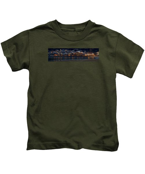 Panorama Of Cedeira Galicia Spain Kids T-Shirt
