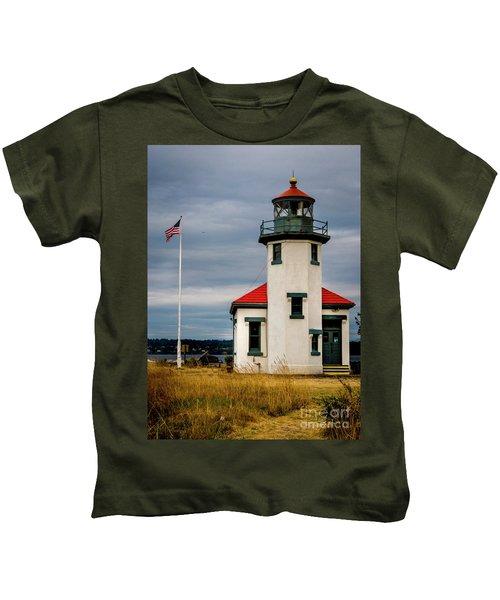 Point Robinson  Lighthouse,vashon Island.wa Kids T-Shirt