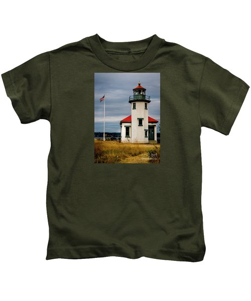 Point Robinson  Lighthouse,vashon Island.wa Kids T-Shirt