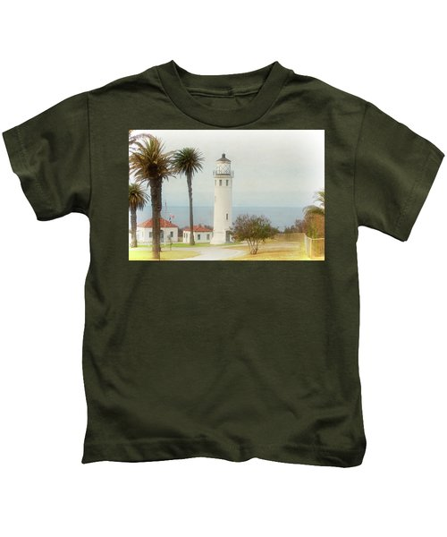 Point Vincente Lighthouse, California In Retro Style Kids T-Shirt