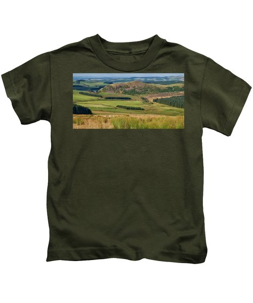 Scotland View From The English Borders Kids T-Shirt