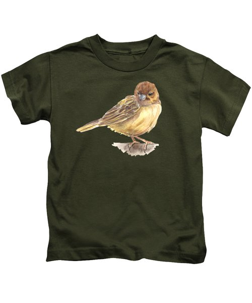 Sparrow Kids T-Shirt by Katerina Kirilova