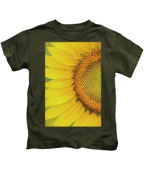 Sunflower Petals Kids T-Shirt