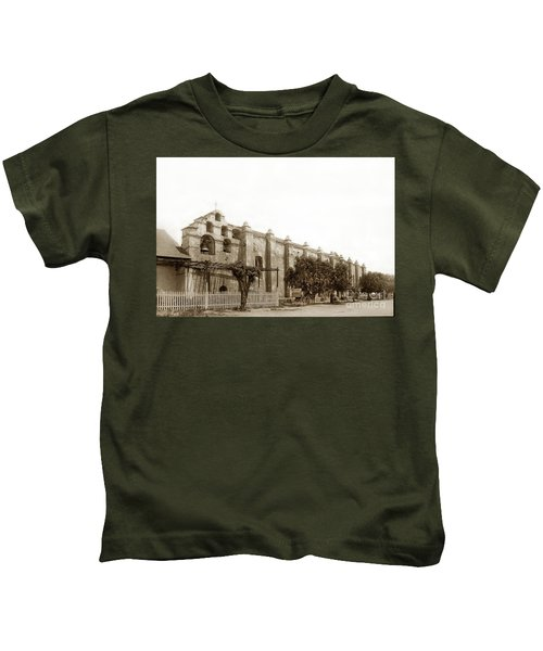 The Campanario, Or Bell Tower Of San Gabriel Mission Circa 1890 Kids T-Shirt