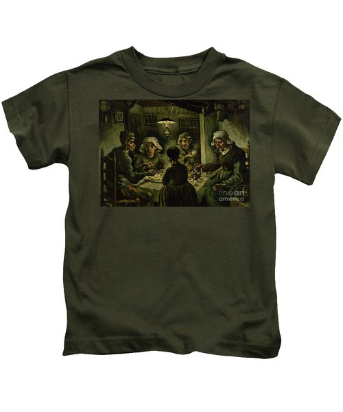The Potato Eaters, 1885 Kids T-Shirt by Vincent Van Gogh