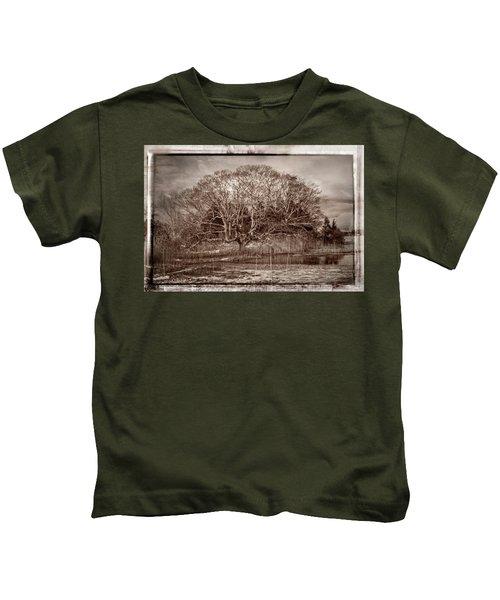 Tree In Marsh Kids T-Shirt