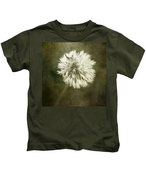 Water Drops On Dandelion Flower Kids T-Shirt