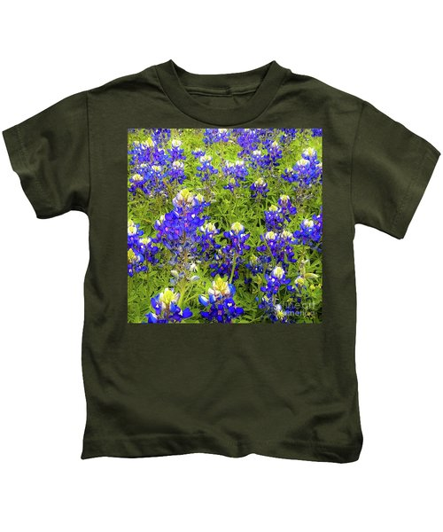 Wild Bluebonnets Blooming Kids T-Shirt
