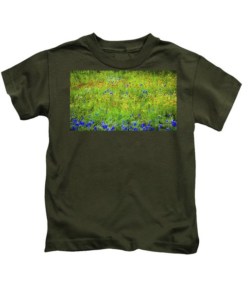 Wildflowers In Bloom Kids T-Shirt