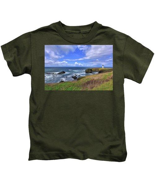 Yaquina Head Lighthouse Kids T-Shirt