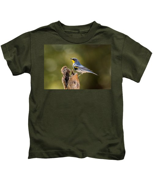 Yellow-rumped Warbler Kids T-Shirt