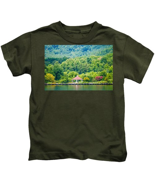Scenery Around Lake Lure North Carolina Kids T-Shirt