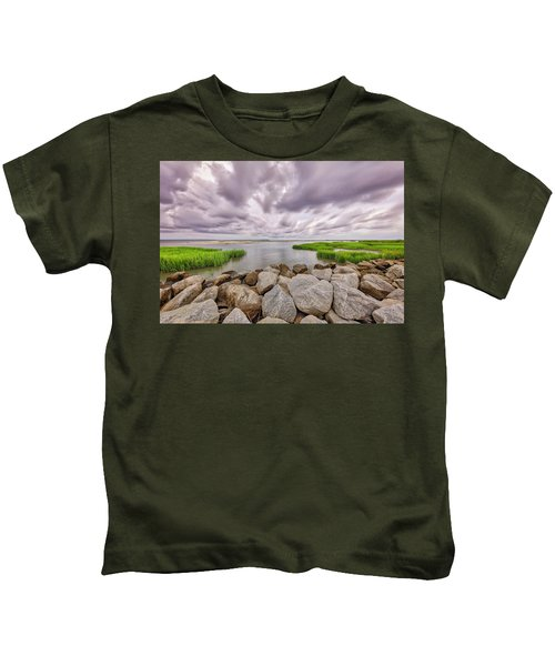 Seascape Of Hilton Head Island Kids T-Shirt