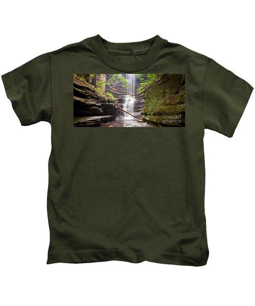 1454 Lake Falls Pano Kids T-Shirt