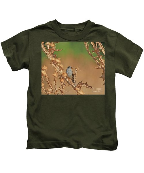 White-crowned Sparrow Kids T-Shirt