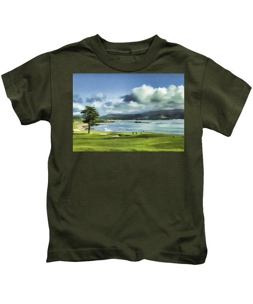 18th Hole Pebble Beach 2 Kids T-Shirt