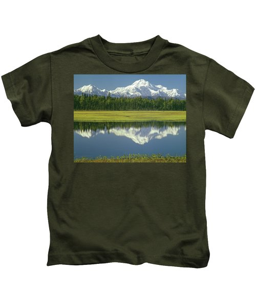 1m1325 Mt. Hunter And Mt. Denali Kids T-Shirt