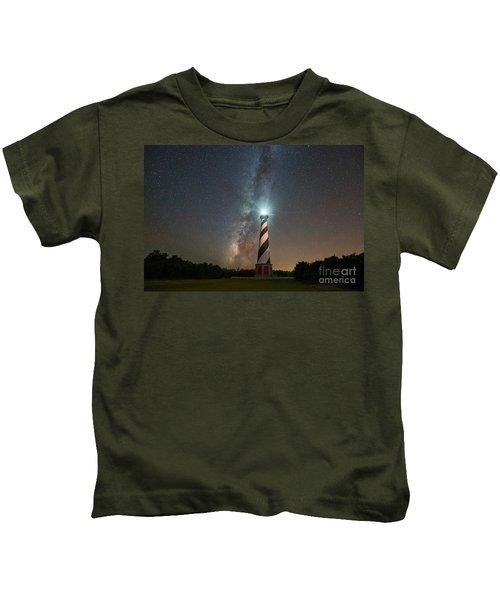 Cape Hatteras Lighthouse Milky Way Kids T-Shirt