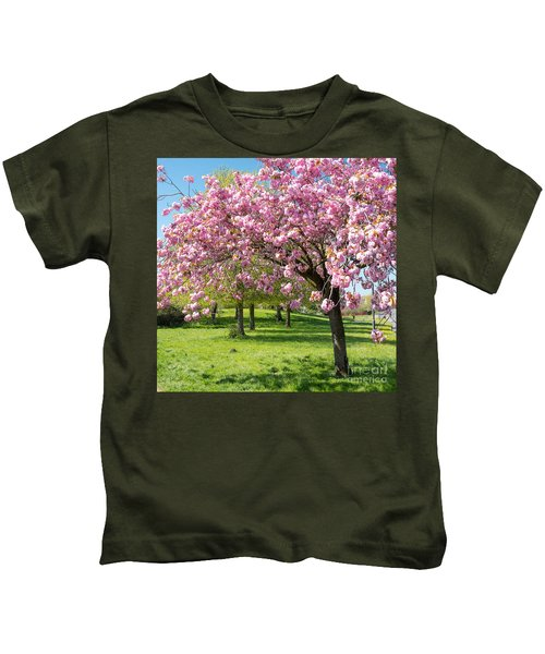 Cherry Blossom Tree Kids T-Shirt